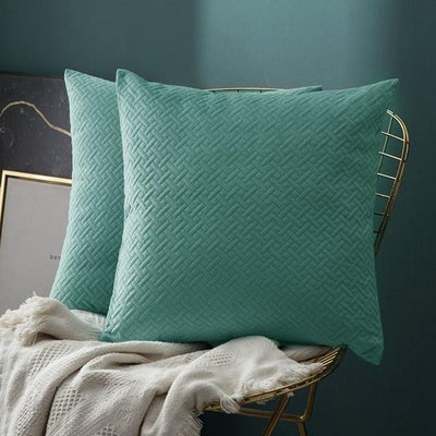 Luxe by Celiné / Pillowcase Pillow Teal Green