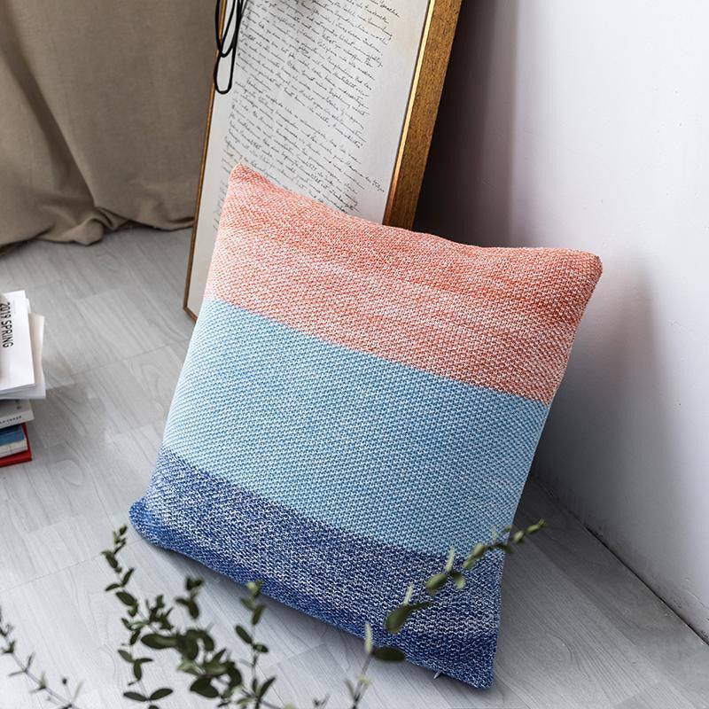 Big Blue Sea Pillowcase | Rose And Blue | Embroidery Pillow