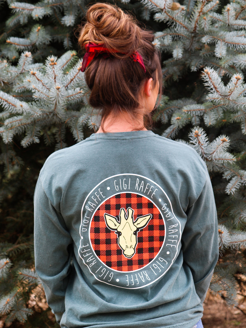 Gigi Blue Spruce Plaid- Long Sleeve