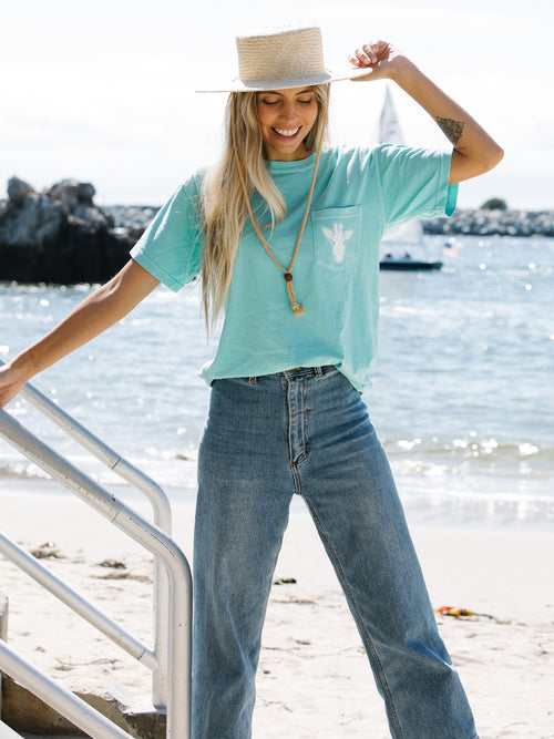 Gigi Horizon Circle- Mint Pocket Tee