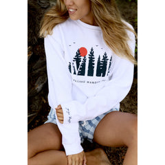Comfort Colors white crew - WILD