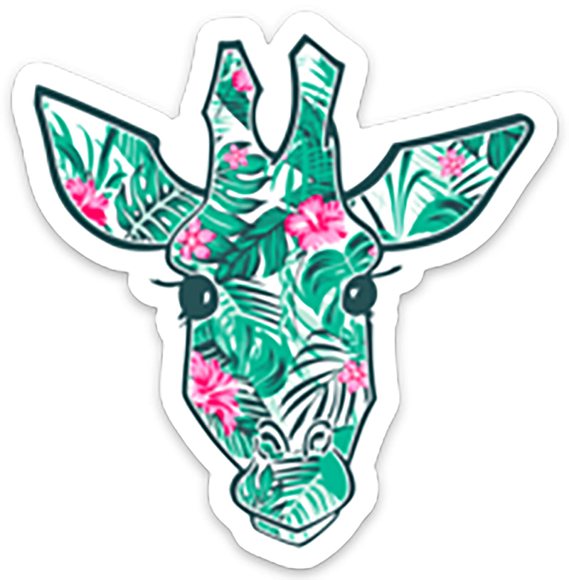 Sticker- Hibiscus Giraffe Head