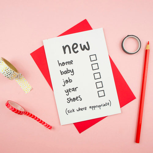 New Home / Baby / Job Funny Tickbox Card