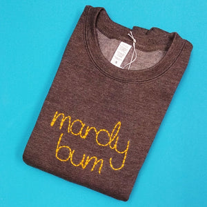 Mardy Bum Jumper - Yellow text