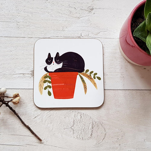 Cat Plant Pot Coaster