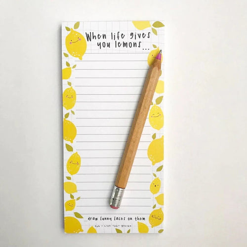 When Life Gives You Lemons List Notepad