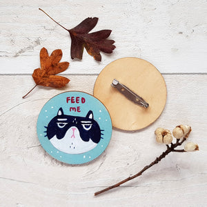 Feed Me Brooch