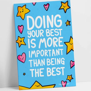 Doing Your Best! A Motivational Postcard