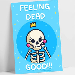 Feeling Dead Good Punny Postcard