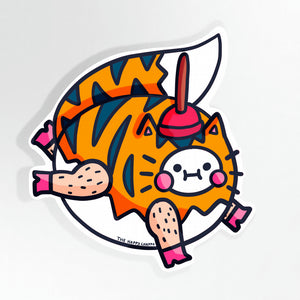 One Of A Kind Tiger 10cm Vinyl Sticker