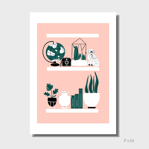 A4 Cabinet of Curiosity A4 Print