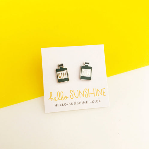 Enamel Gin Earrings