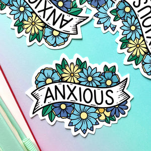 Anxious Vinyl Sticker