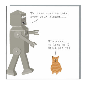Apathetic Cat Card