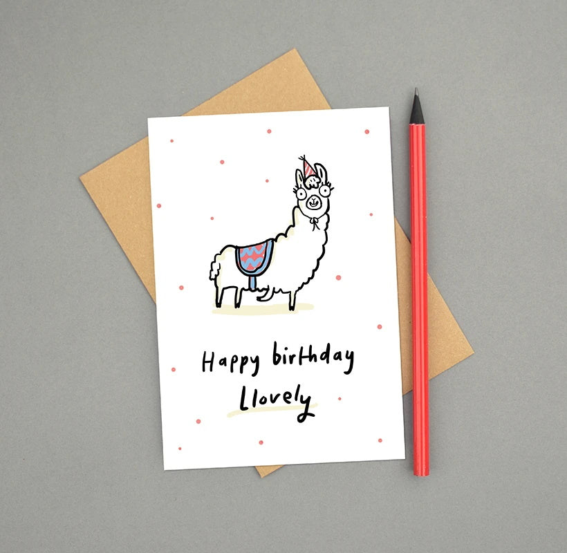 Happy Birthday Llovely Llama Card