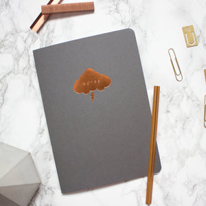 Grey Copper Cloud A5 Notebook