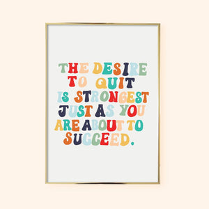 SUCCEED Motivational Print