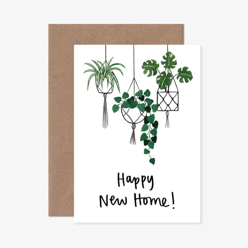 Hanging Plants New Home Greeting Card