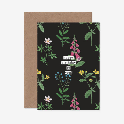 Happy Birthday To You Wildflower Greeting Card