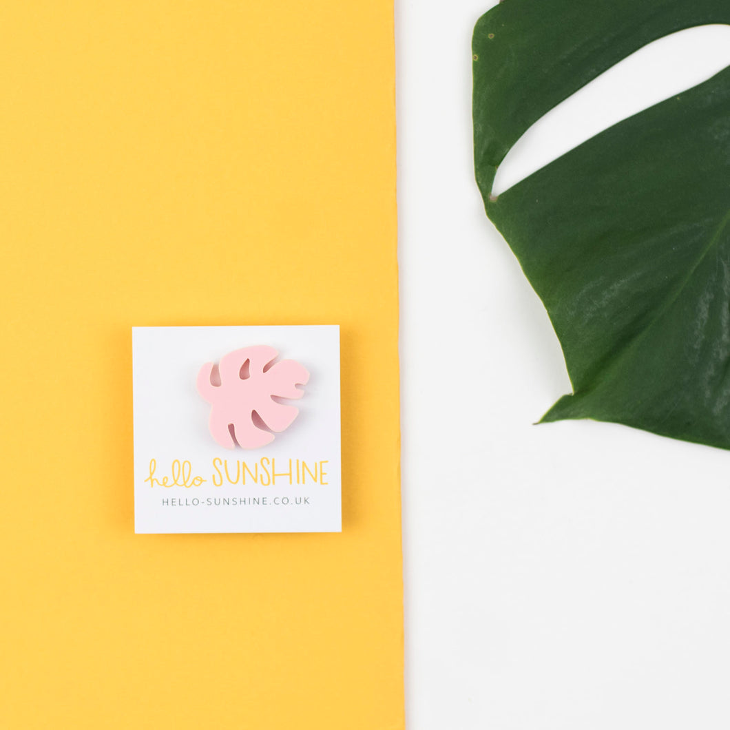 Pink Cheese Plant Label Pin