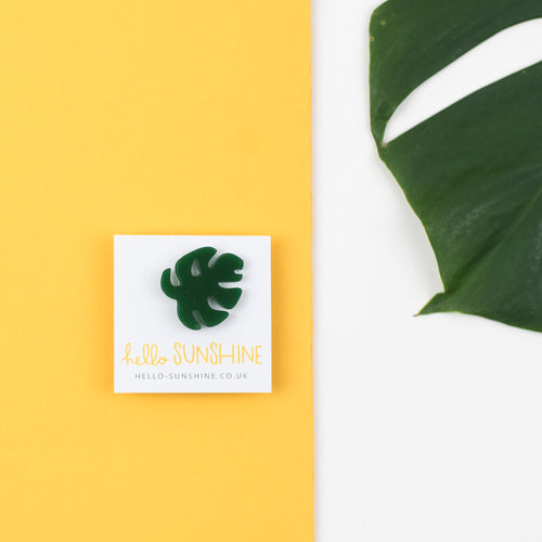 Green Cheese Plant Label Pin