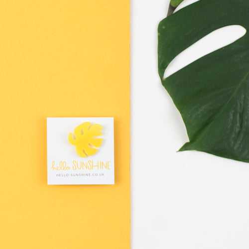 Yellow Cheese Plant Label Pin