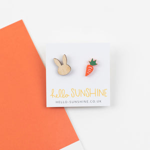 Bunny Rabbit and Carrot Earrings