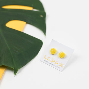 Yellow Cheese Plant Earrings