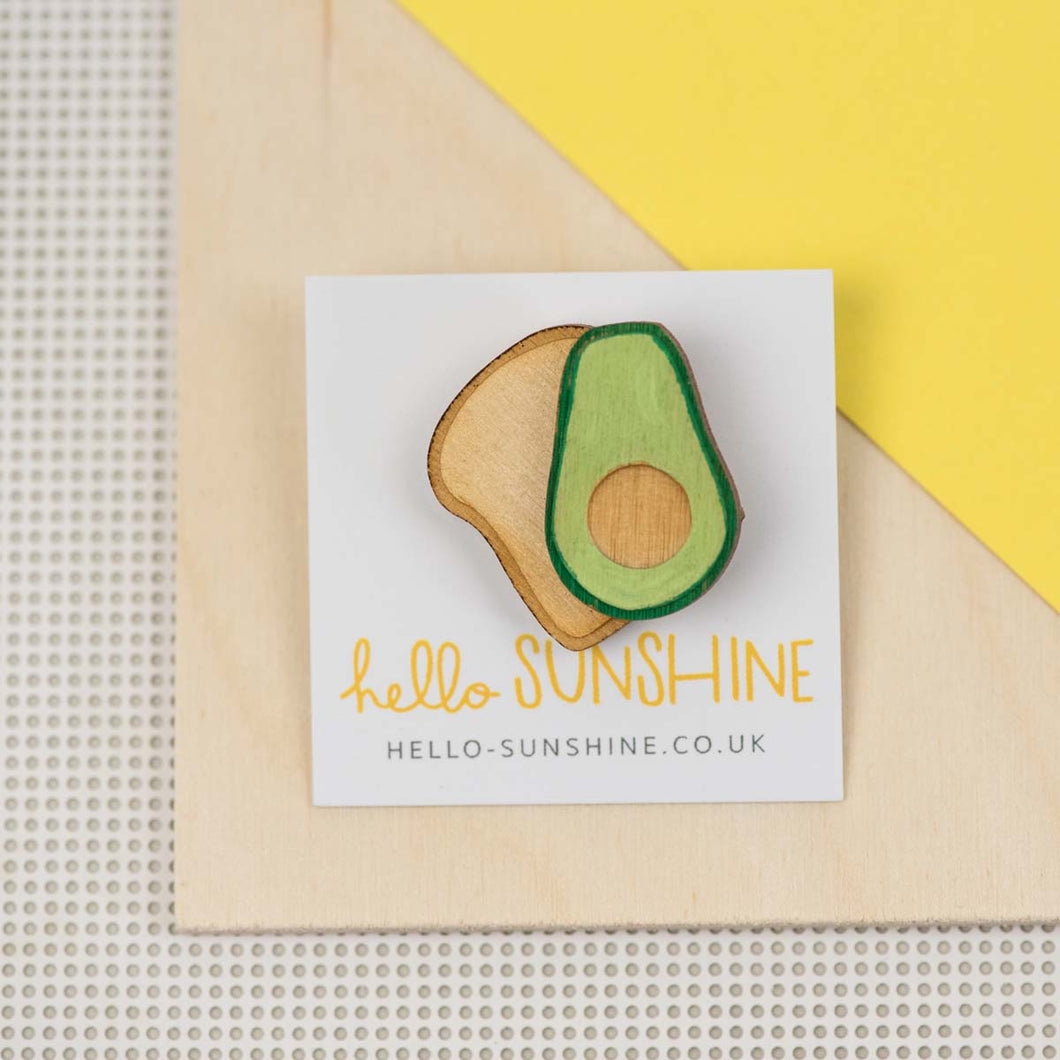 Avocado on Toast Lapel Pin