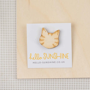 Tabby Cat Lapel Pin