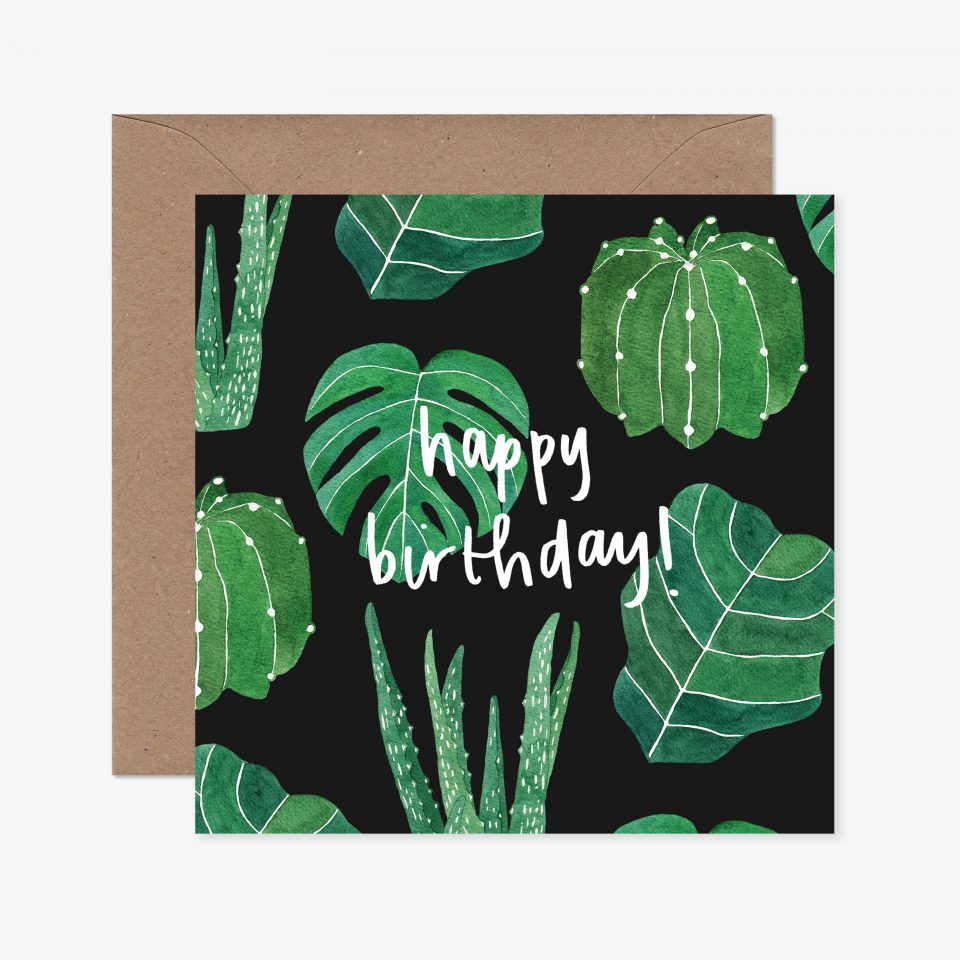 House Plants Happy Birthday Greeting Card