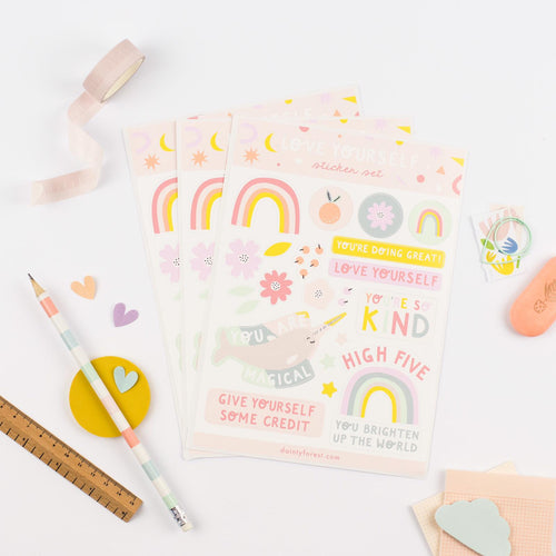 Positivity A5 sticker sheet