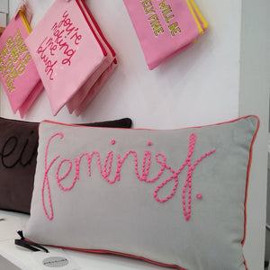 Feminist Embroidered Cushion