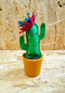 Mini Cactus with Face No.4