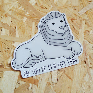 Left Lion Vinyl Sticker