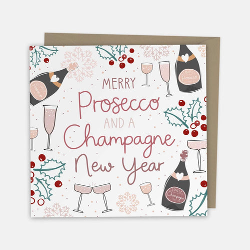 Merry Prosecco and a Champagne New Year Card