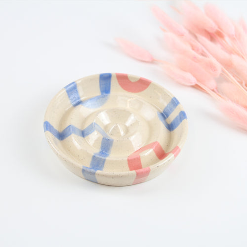 Blue and Blush Soap Dish
