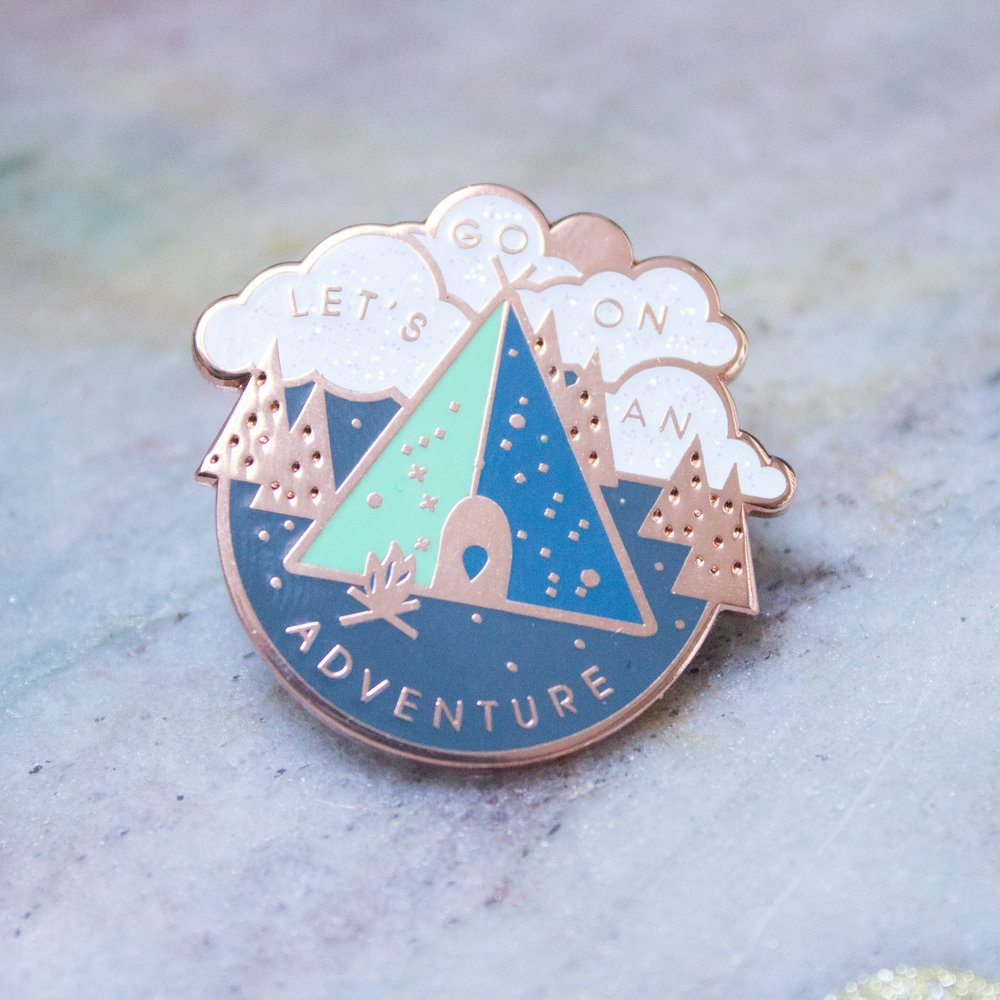 Let's Go On An Adventure Pin