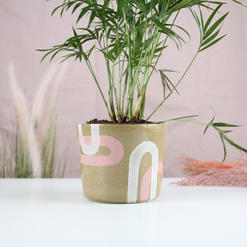 White and Blush Arch Planter