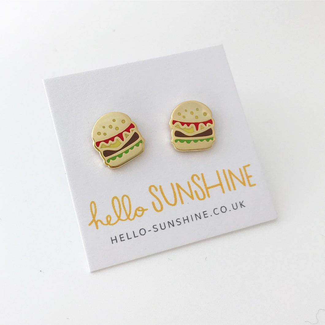 Burger Enamel Earrings