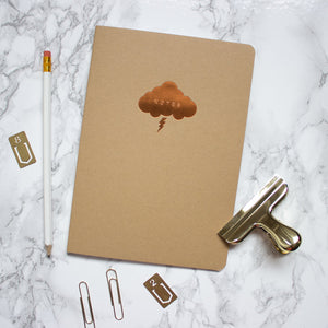 Kraft Copper Cloud A5 Notebook