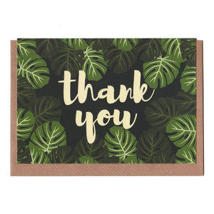 Thank You - Monstera Card