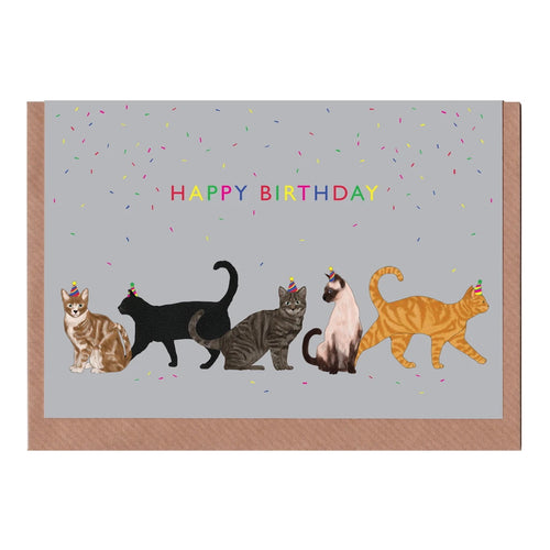 Happy Birthday Cats Card
