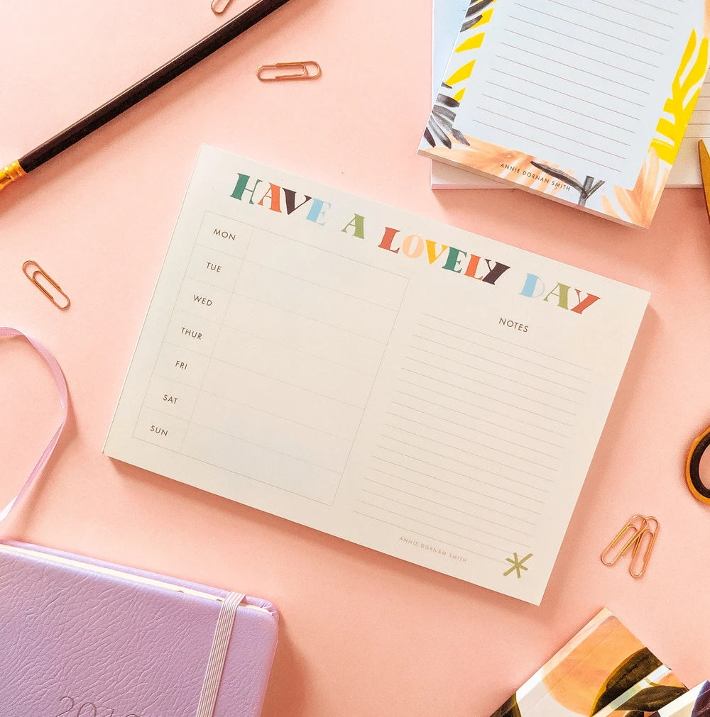 Have a Lovely Day Weekly Planner Pad