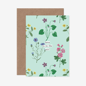 Love Is In The Air Wildflower Greeting Card