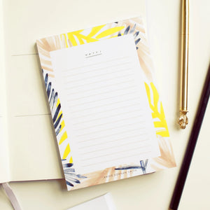 Palm Leaf Pattern Jot Pad