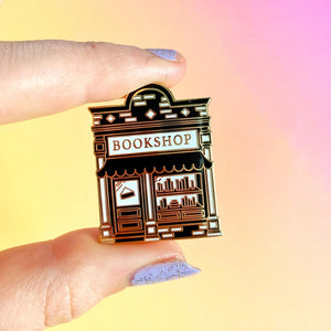 Black Book Shop Enamel Pin