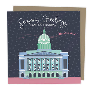 Season's Greetings From Nottingham Christmas Card