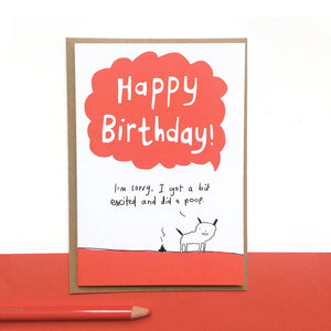 Dog poop birthday card