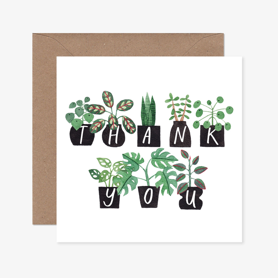 Potted Plants Thank You Greeting Card